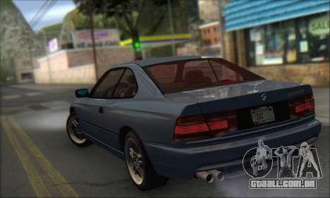 BMW E31 850CSi 1996 para GTA San Andreas esquerda vista
