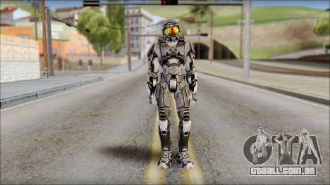 Masterchief Black from Halo para GTA San Andreas
