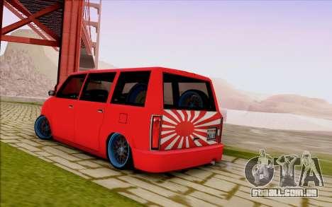 Moonbeam Stance para GTA San Andreas vista interior