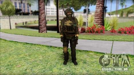Roach Anderson in Dark Suit from MW2 para GTA San Andreas