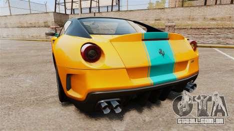 Ferrari 599 GTO PJ2 para GTA 4 traseira esquerda vista