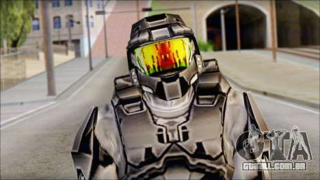Masterchief Black from Halo para GTA San Andreas terceira tela
