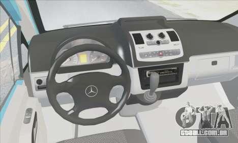 Mercedes-Benz 115 CDI Vito 2007 Stance para GTA San Andreas vista interior