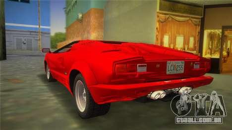 Lamborghini Countach 1988 25th Anniversary para GTA Vice City deixou vista