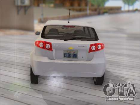 Chevrolet Lacetti para GTA San Andreas vista direita
