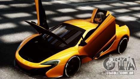 McLaren 650S Spider 2014 para GTA 4 traseira esquerda vista