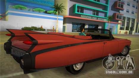 Cadillac Eldorado para GTA Vice City deixou vista