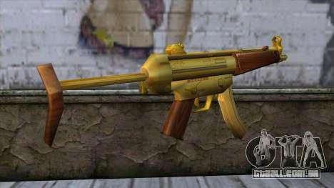 MP5 Gold from CSO NST para GTA San Andreas segunda tela