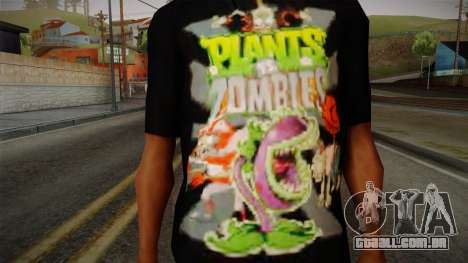 Plants versus Zombies T-Shirt para GTA San Andreas terceira tela
