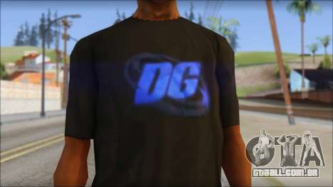 DG Negra T-Shirt para GTA San Andreas terceira tela