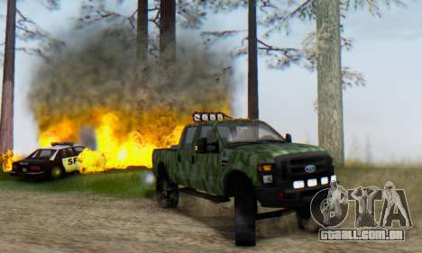 Ford F-250 Camo Lifted 2010 para GTA San Andreas esquerda vista