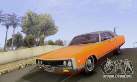 Chrysler New Yorker 1971 para GTA San Andreas vista interior