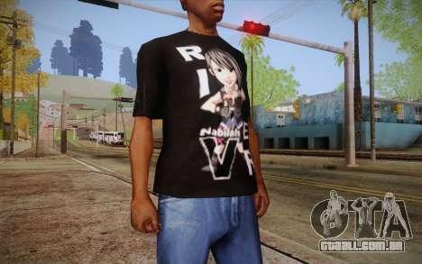 Anime Nabilah Shirt para GTA San Andreas terceira tela