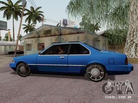 Sentinel Coupe para GTA San Andreas esquerda vista