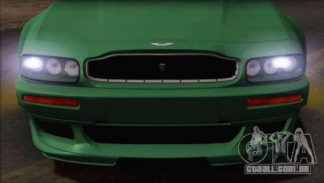 Aston Martin V8 Vantage V600 1998 para GTA San Andreas traseira esquerda vista
