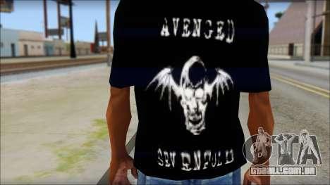 A7X Waking The Fallen Fan T-Shirt para GTA San Andreas terceira tela