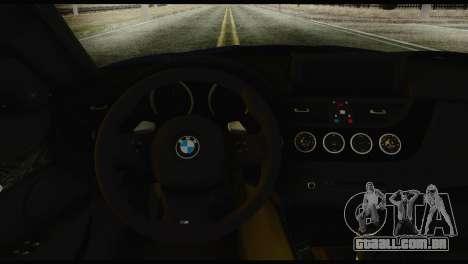BMW Z4 sDrive28i 2012 para GTA San Andreas traseira esquerda vista