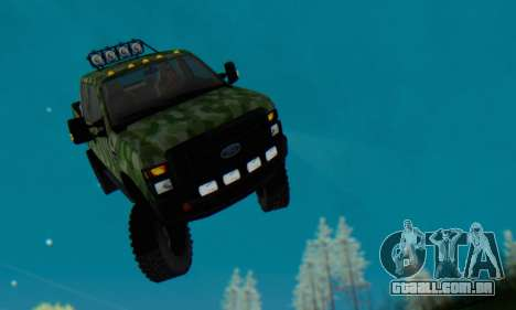 Ford F-250 Camo Lifted 2010 para GTA San Andreas vista inferior