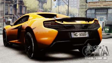 McLaren 650S Spider 2014 para GTA 4 esquerda vista
