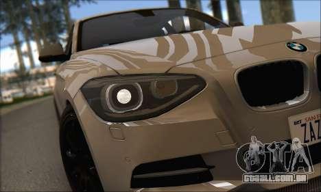 BMW M135i para GTA San Andreas vista traseira