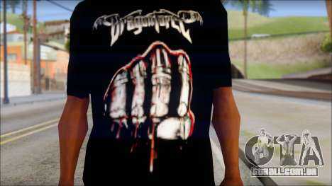 Dragonforce In Your Face Fan T-Shirt para GTA San Andreas terceira tela