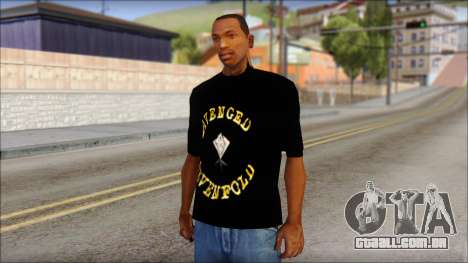 A7X Golden Deathbat Fan T-Shirt para GTA San Andreas