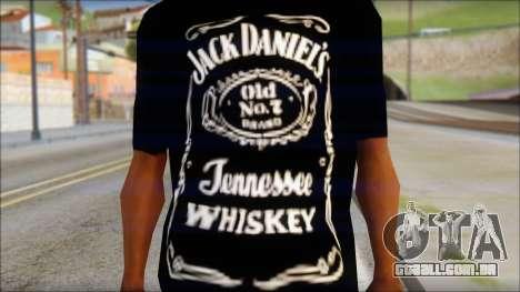 Jack Daniels Fan T-Shirt Black para GTA San Andreas terceira tela