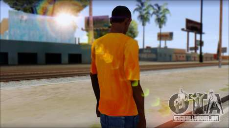 Cj Fox T-Shirt para GTA San Andreas segunda tela