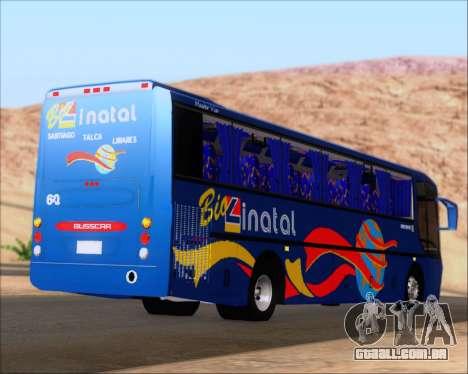 Busscar El Buss 340 Bio Linatal para GTA San Andreas traseira esquerda vista