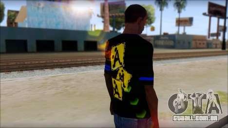 T-Shirt A-Style para GTA San Andreas segunda tela