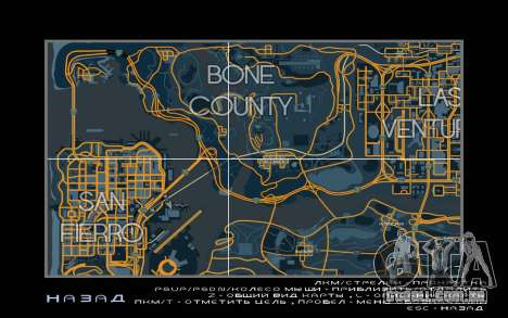 Mapa de corrida estilo de Rastreamento Mapa para GTA San Andreas terceira tela