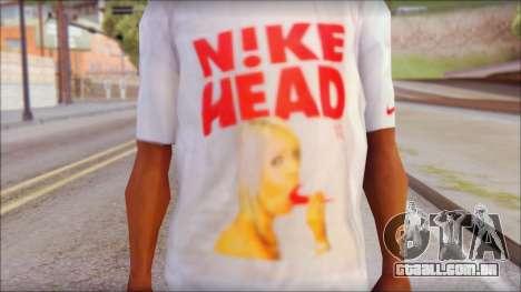 N1KE Head T-Shirt para GTA San Andreas terceira tela