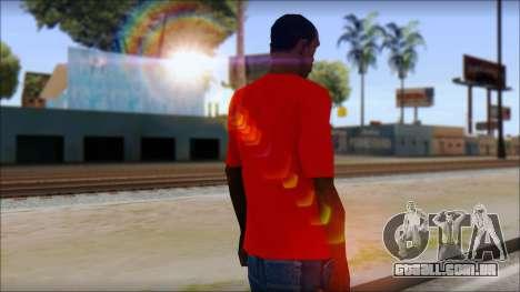 Vidick from Infected Rain Red T-Shirt para GTA San Andreas segunda tela