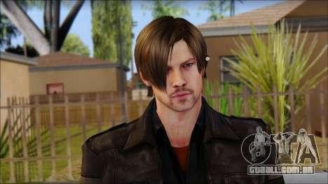 Leon Kennedy from Resident Evil 6 v2 para GTA San Andreas terceira tela