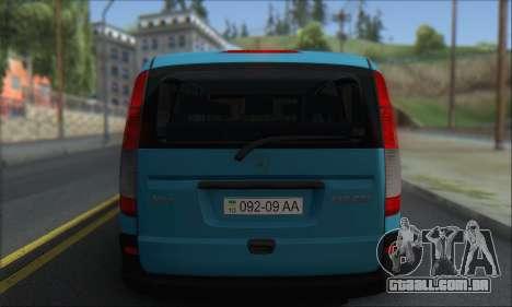 Mercedes-Benz 115 CDI Vito 2007 Stance para GTA San Andreas vista direita