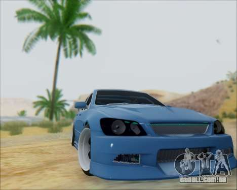 Toyota Allteza C-West para GTA San Andreas traseira esquerda vista