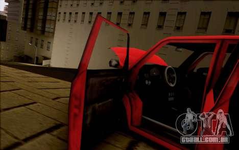 Moonbeam Stance para GTA San Andreas vista traseira