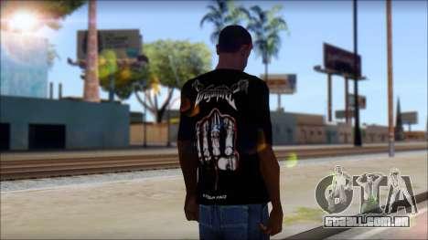 Dragonforce In Your Face Fan T-Shirt para GTA San Andreas segunda tela