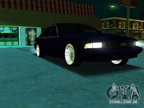 Chevrolet Impala SS 1995 para GTA San Andreas vista direita