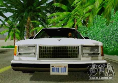 Washington Limousine para GTA San Andreas vista direita
