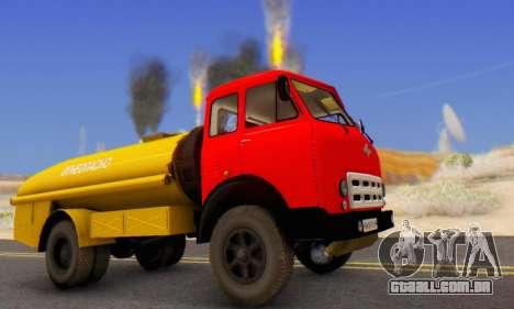 MAZ 500A Bowser para GTA San Andreas esquerda vista