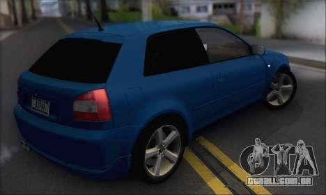 Audi A3 1999 para GTA San Andreas vista direita
