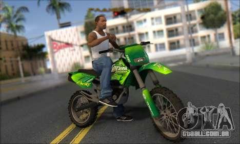 Sanchez From GTA V para GTA San Andreas vista traseira