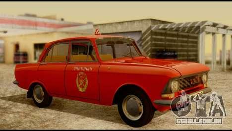 Moskvich U para GTA San Andreas traseira esquerda vista
