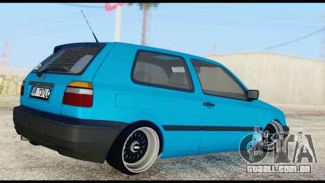 Volkswagen MK3 deLidoLu Edit para GTA San Andreas esquerda vista