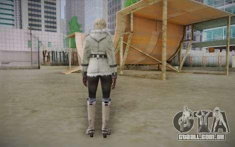 Sherry Birkin Europa from Resident Evil 6 para GTA San Andreas segunda tela