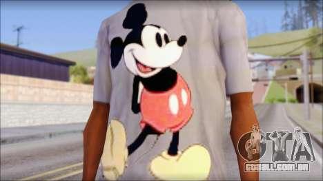Mickey Mouse T-Shirt para GTA San Andreas terceira tela