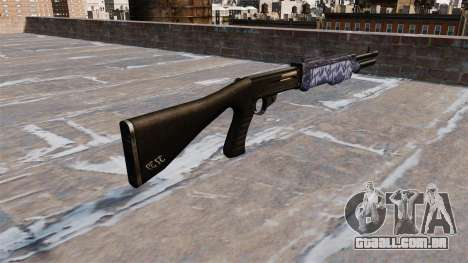 Ружье Franchi SPAS-12 Blue tiger para GTA 4 segundo screenshot