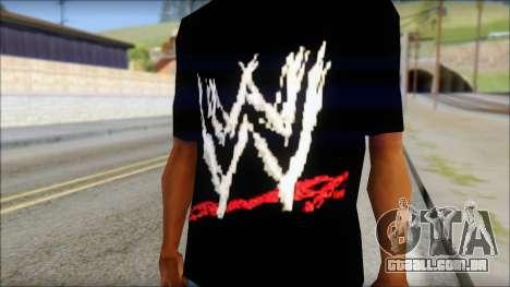 WWE Logo T-Shirt mod v2 para GTA San Andreas terceira tela