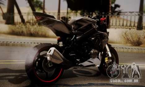 Kawasaki Z1000 2014 - The Predator para GTA San Andreas esquerda vista